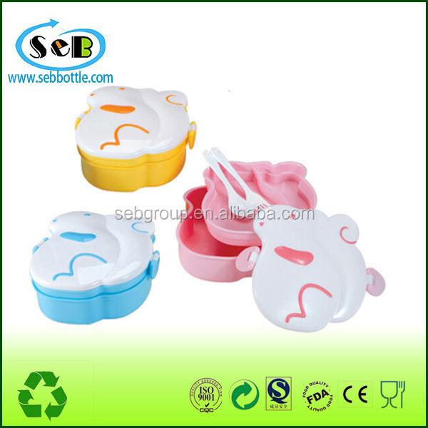 Unique Shape Preserving Box pp Food Container With Lock Cover