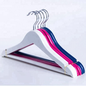 Wholesale pink wood clothes shirts hangers wooden children suit hanger