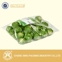Clear Transparent OPP BOPP Package Bag For Packaging Frozen Fresh Vegetable