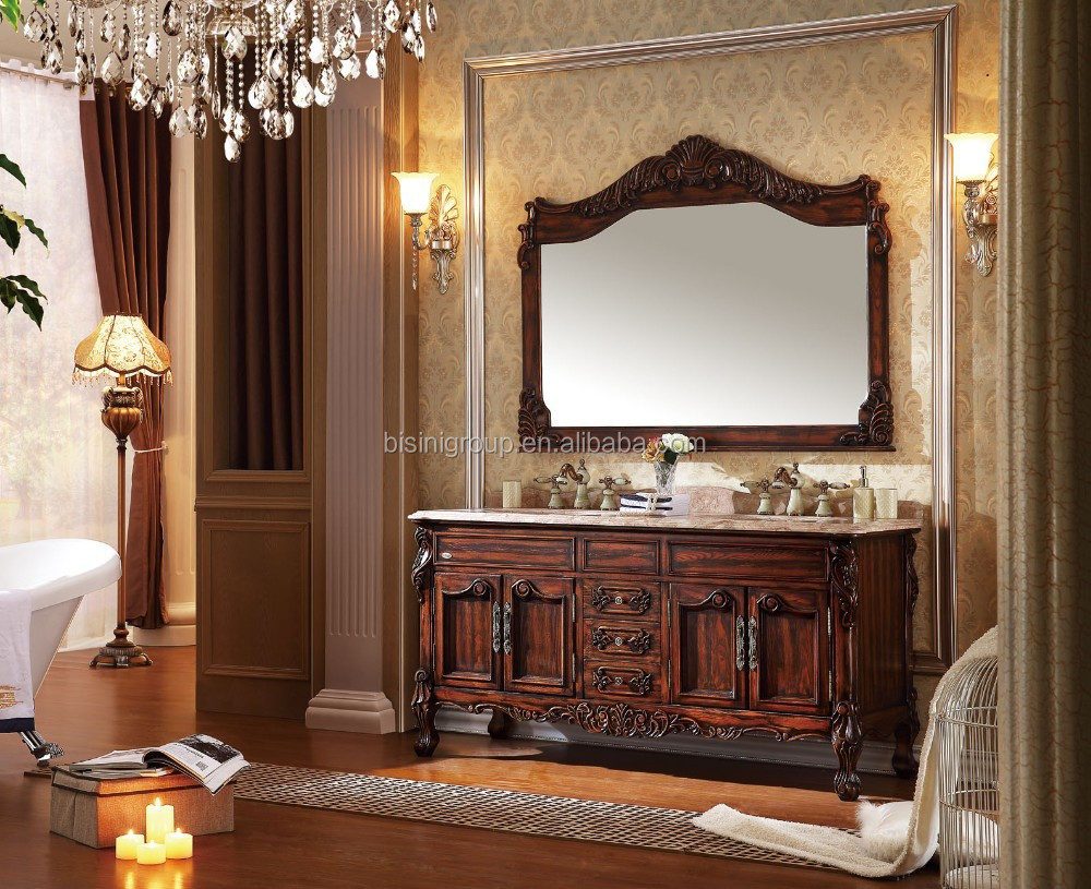 De lujo de estilo americano tradicional tallado muebles de baño de