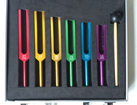Full colored Sacred Solfeggio Tuning fork set for sound Healing K1132