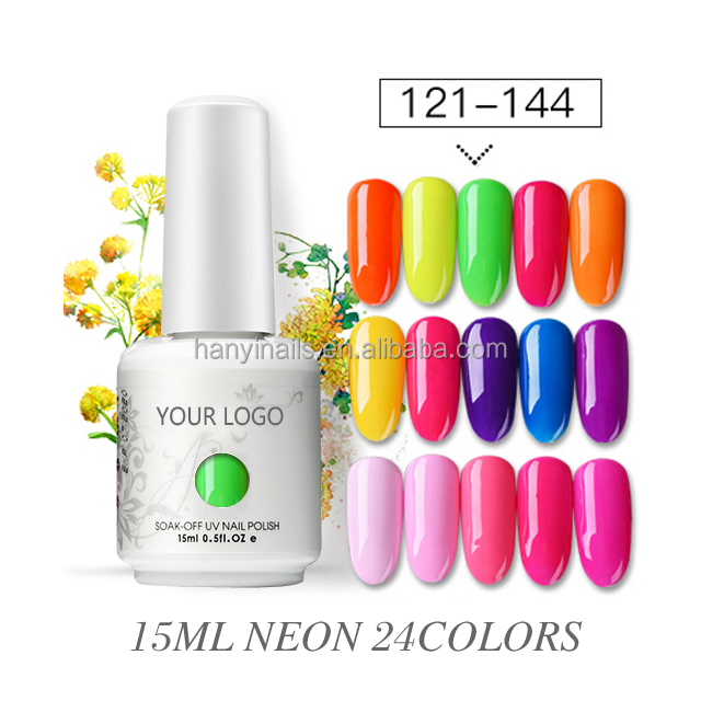 Rifornimenti della fabbrica easy apply di modo neon soak off led uv del chiodo del gel polish