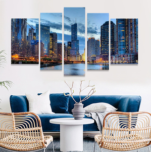 Wall Art Painting Chicago Illinois Usa Pictures Prints On Canvas City The Picture Decor Oil For Home Modern Decoration Print