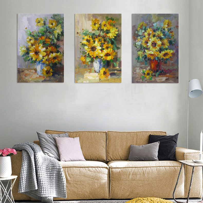 Abstract yellow sunflower water color oil painting <strong>pictures</strong> of sunflowers