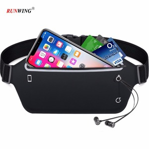 Slim Soft Polyester Waterproof Waist Bag Pack for Running