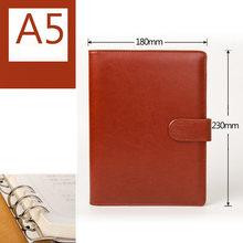 Спиральный блокнот A5/B5, 6 колец, органайзер, личный дорожный дневник, дневник, деловой блокнот с пряжкой, Канцелярские Товары для офиса(Китай)