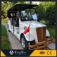 Hot sell luxury 11 seater electric retro car/ golf cart for sale
