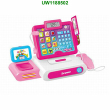 Toys Cashier Toy Cash Register Play set | Pretend Play Set For Kids | Colorful Children's Supermarket Checkout Toy With Micro
