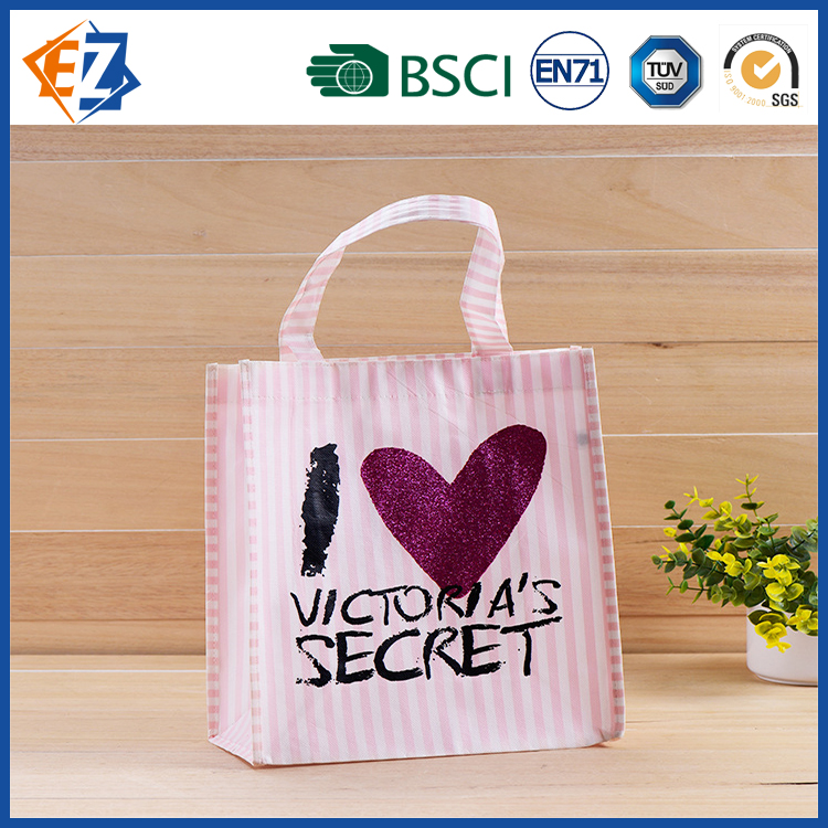 Pink Non-woven Hand Bag for Promotion Wholesale and Shopping