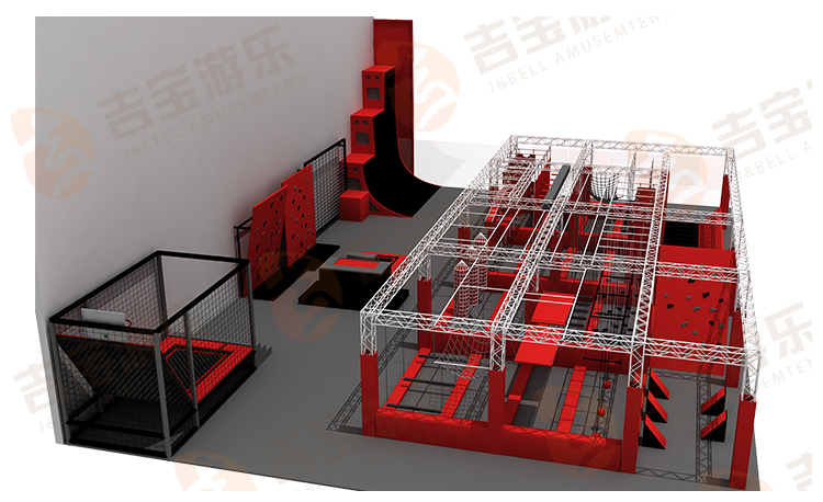 China professionals factory newest design obstacle course ninja warrior game supplier for kids