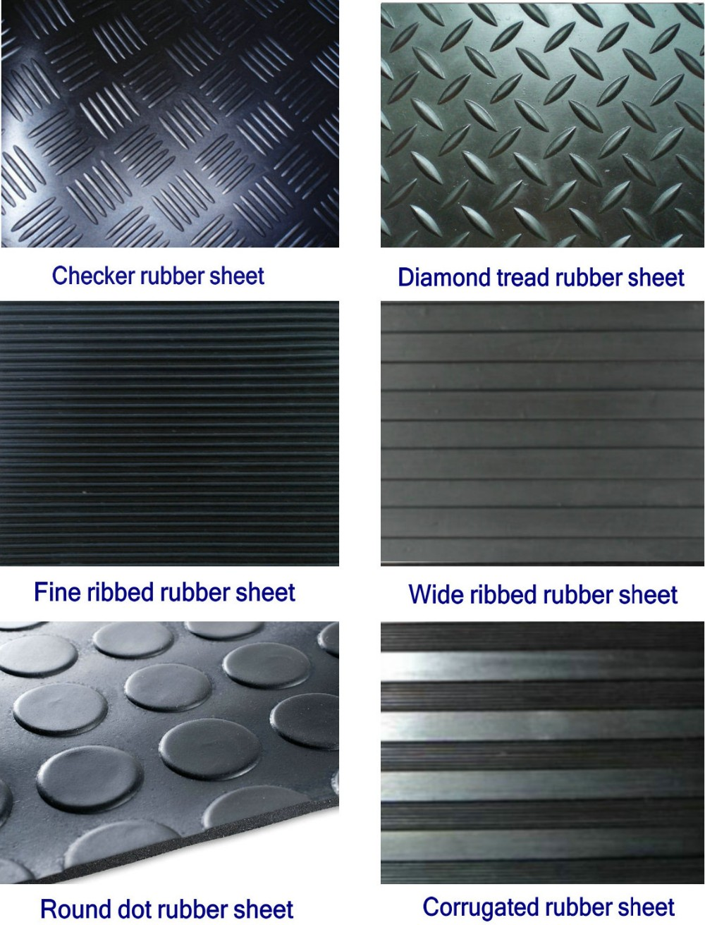 High Quality Checker Plate Rubber Sheet
