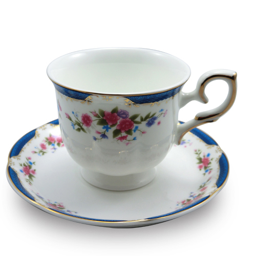 150ml Rose Coffee Cups & Saucers 5 Set