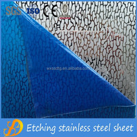 color etched stainless steel sheet 304 decorative pattern metal