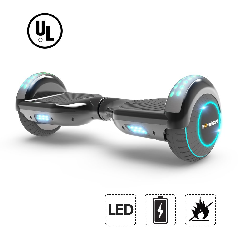 Hoverboard Lithium-Free UL 2272 Certified Two-Wheel Self Balancing Electric Scooter With Flash Wheel Top LED Light