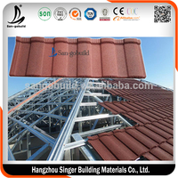 Roofing Sheet Materials Galvanized Galvalume steel roofing sheet low cost stone coated sheet steel roof