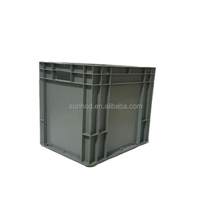 Solid wall logistic plastic storage moving tote box