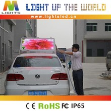 P5 Outdoor 12Volt Advertising Text Screen Car Message Roof Sign For Taxi Top LED Display