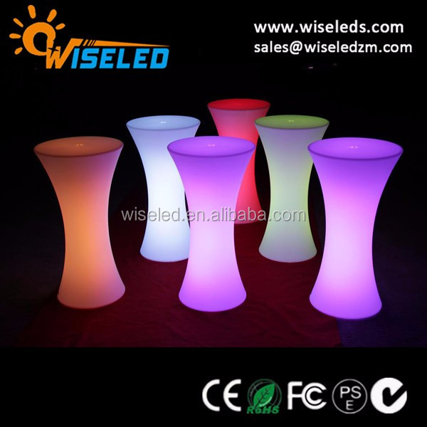 LED portable cocktial bar table led event furniture