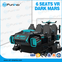 Virtual Reality Six Seats 9D Cine, 120 Pieces Movie and 5 Special Effects 9D Virtual Reality 9D VR