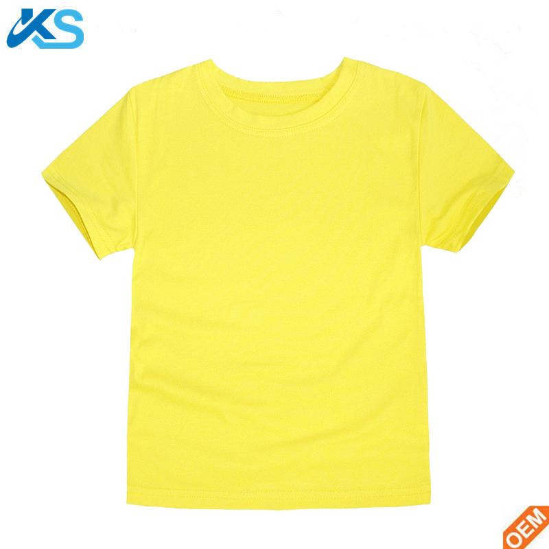 Kid/'s Plain T shirt Children/'s Plain Blue T shirt