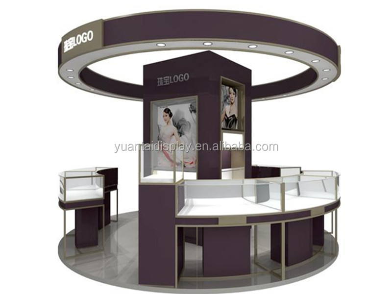 jewellery kiosk design wood glass shop counter for jewelry display