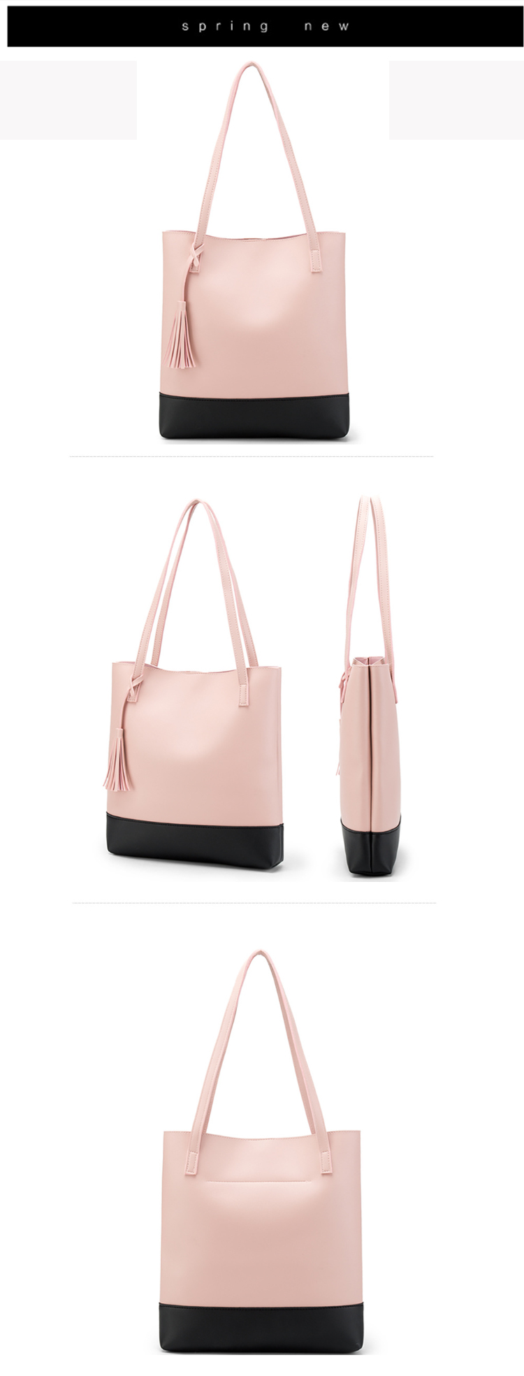 Osgoodway2 Latest Fashion Official Leather Tote Handbags Bags Women PU Shoulder Bag