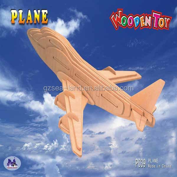 Plane Series - Boeing 747 Model Wooden 3d Puzzle,Puzzle Game ...