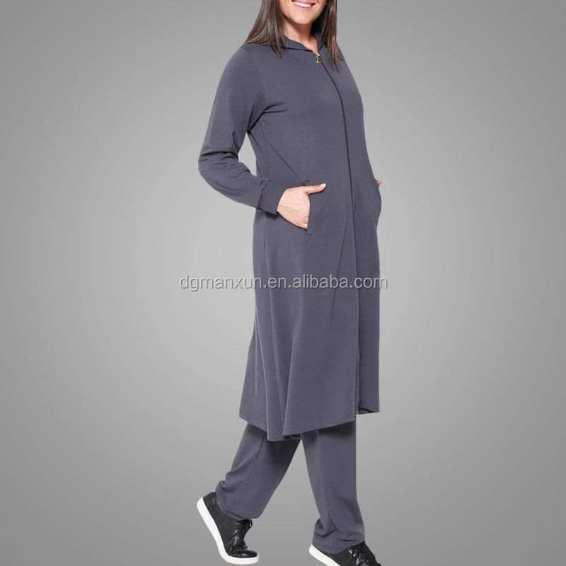 Manxun fashion plus size suits comfortable sportswear islamic clothing muslim Turkish abaya