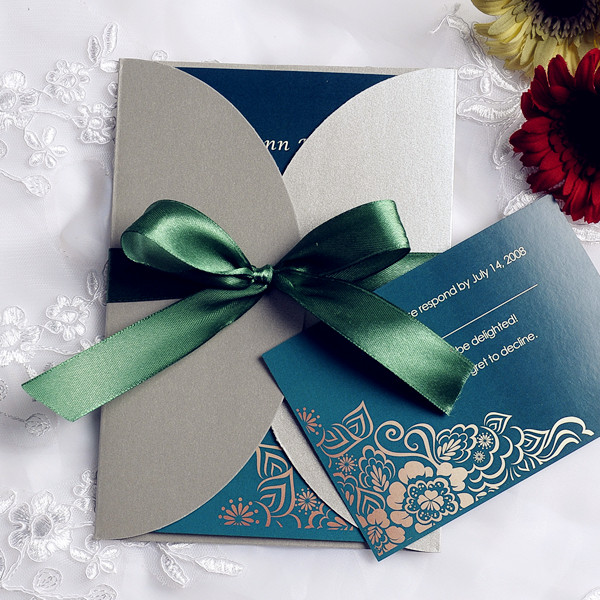 High Quality Folder Invitation Cards Wedding Greating Card Gold Foil View YZJ Product Details From