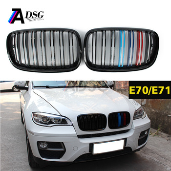 X5 E70 X6 E71 front hood abs grille M Tril color kidney grille for bm w E70 E71 2008 - 2014