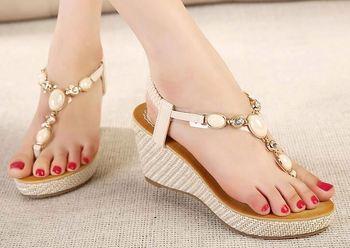 c850b0ea5f3 Gaya Musim Panas Wanita Sepatu Wanita High Heels Sandal Tahan Air ...