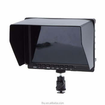 "10.1"" 16:10 1280 * 800 Clip-on Color TFT LCD HD Monitor HDMI AV Input with Sun Shield for DSLR Video Camera Camcorder"