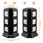 Extension Cables switch socket USB 220-250 V Electric surge protector vertical power socket