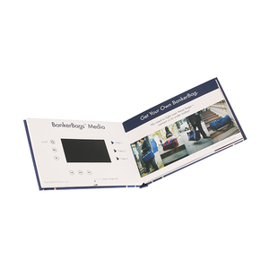 "Promotional 5"" tft lcd video invitation card lcd video brochure"
