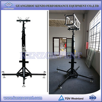 Hot 250kg Heavy Duty Truss Tower Lift 6 5m Portable Lighting With T Bar Mobile Light