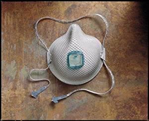 Moldex(R) Medium/Large N100 Disposable Respirator With Ventex(R) Exhalation Valve, Dura-Mesh(R) Shell And HandyStrap(R) - NIOSH 42CFR84
