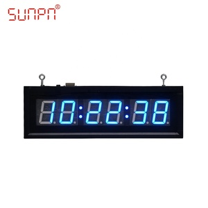 Custom Indoor LED wall digital clock via POE/NTP/GPS/CDMA for School/Hospital/drugstore/pharmacy