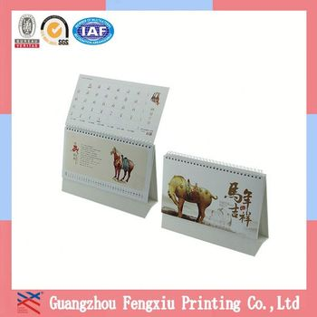 Free Sample Top-Grade China Flip Table 2015 Design Design Calendar