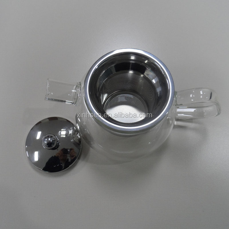 Easy to clean glass teapot with warmer