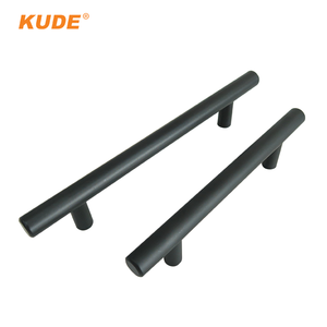 Black furniture kitchen cabinet stainless steel T bar handles for doors
