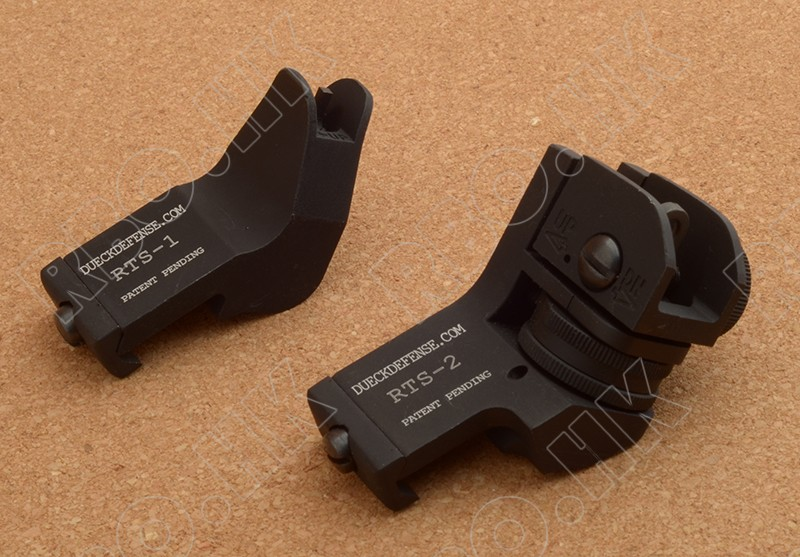 Ar 15 Gun Front Amp Rear Sights 45 Degree Angled Iron Sight