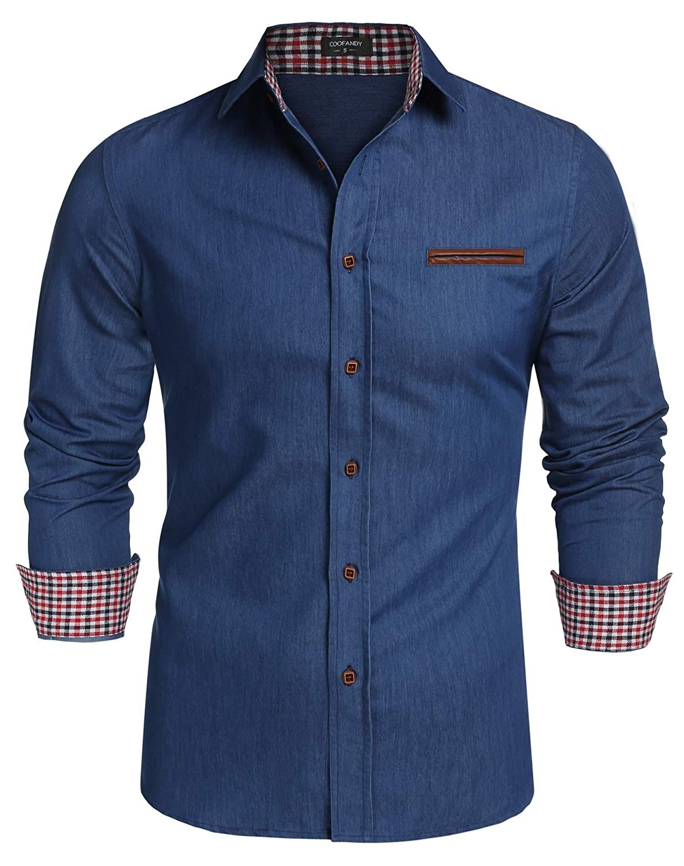 Casual Shirts Mens Shirt 2019 Spring Fashion Solid Black White Blueturn-down Collar Full Sleeve Smart Casual Oversize Slim Fit Tops Shirt Men