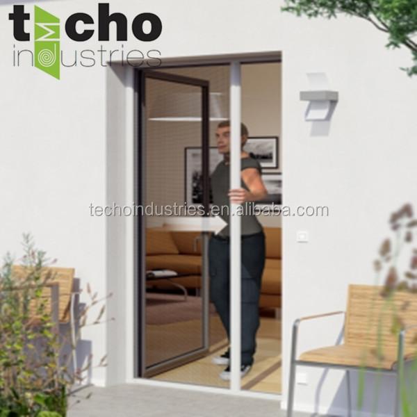 produce rollup hidden insect screen door inside aluminum flyscreen for garden
