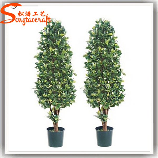 outdoor artificial fake plastic green grass trees evergreen plants