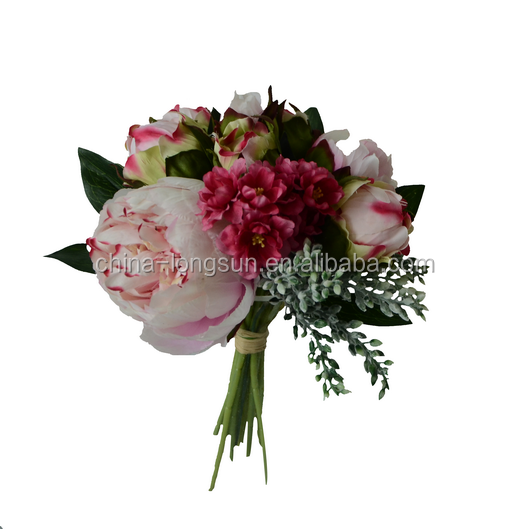 LSD-1611101709 12 heads silk mini rose bud artificial flower rose bunches