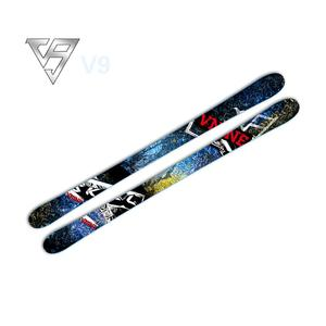 2018 new design wooden downhill ski for adult