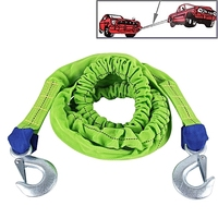 Emergency heavy duty car tow strap stretch towing rope with hooks