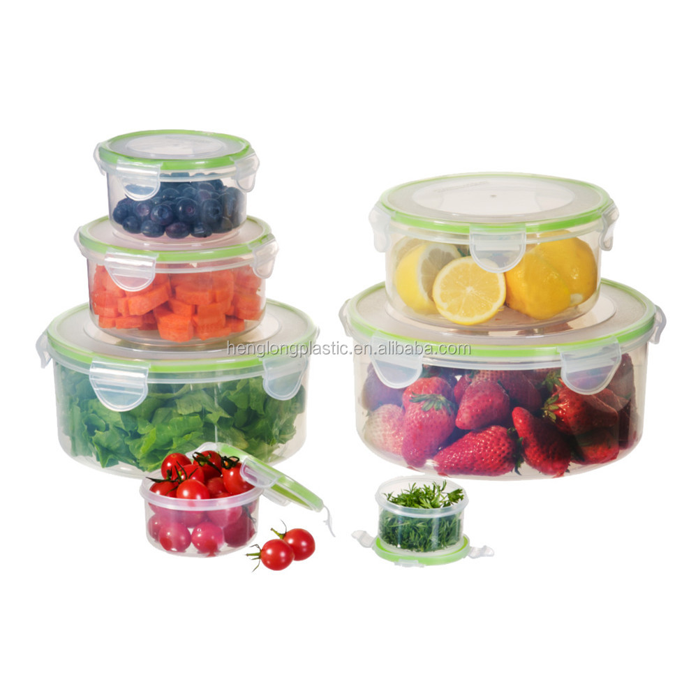 Airtight Leak Proof Stackable 8 in 1 Plastic Storage Food Container Set