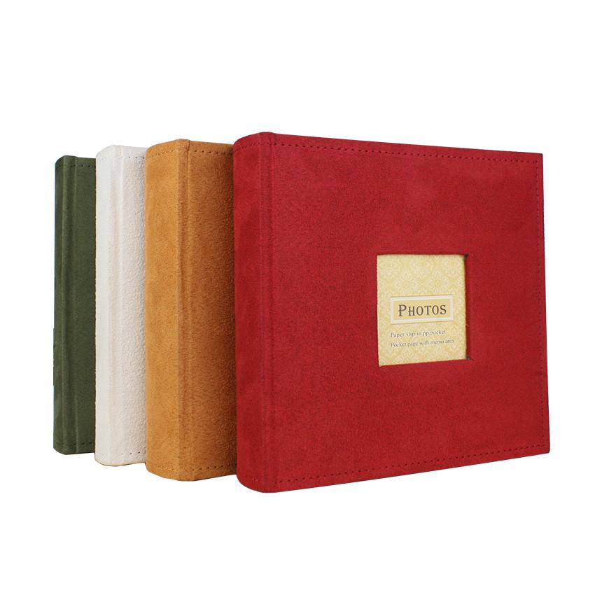 "Guanmei 4 ""x 6"" deslizamento em álbuns de papel Álbum de fotos Livro encadernado 6x4 álbum de 200 fotos capa de tecido casamento scrapbook photo books"