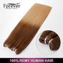 Alibaba wholesale ombre color malaysian remy kinky curly human tangle free human hair weft